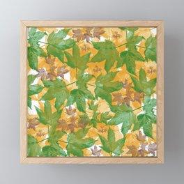Leaves FG Framed Mini Art Print