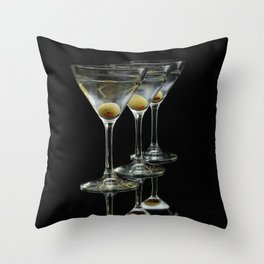 Three Martini's and three olives.  Throw Pillow