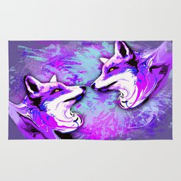 Purple Fox Spirit Rug