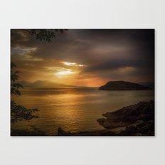 Sunset at Lismore Island Canvas Print