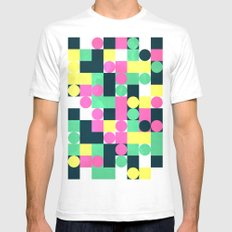 circle square White Mens Fitted Tee SMALL