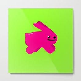 Atomic Pink Bunny Metal Print