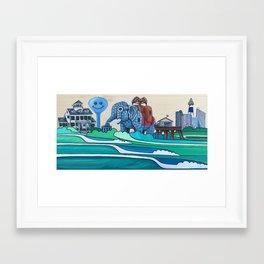 Absecon Island Framed Art Print