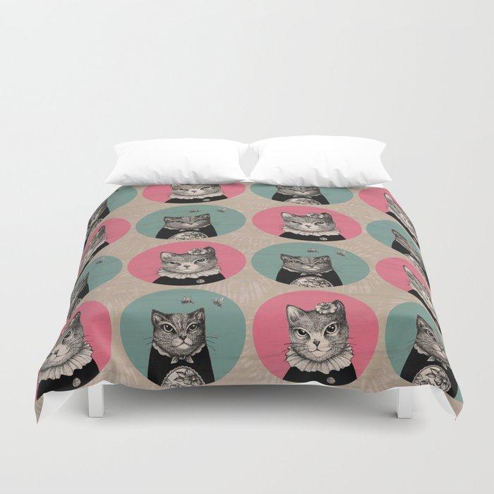 Cats Print Duvet Cover