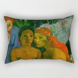 """Paul Gauguin """"Barbarian Tales (Contes barbares)"""" Rectangular Pillow"""
