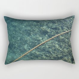 Rope over clear water Rectangular Pillow