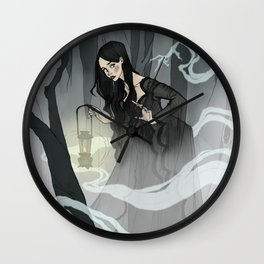 What Lies in the Mist Wall Clock