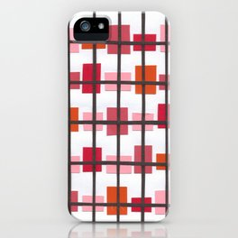 Rectangles in Pink/Orange iPhone Case