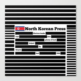 North Korea News Paper Canvas Print