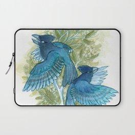 Blue Jays and Tea Olive Plant Laptop Sleeve