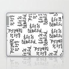 Life is Beautiful (white) Laptop & iPad Skin