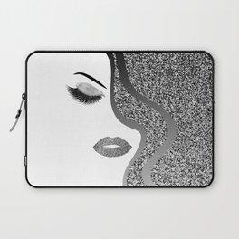 Glitter woman Laptop Sleeve