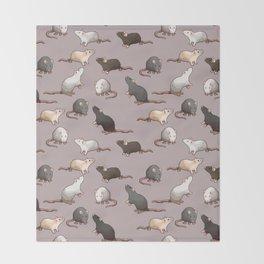 Pixel Rats Throw Blanket