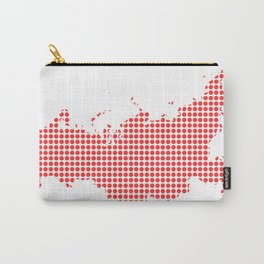 Red Dot Map of Russia Carry-All Pouch