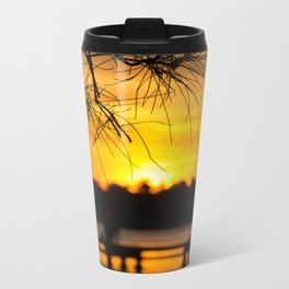 Belmont, Green Point, Australia Jetty at Sunset (Portrait) Metal Travel Mug
