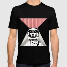 spacewoman Black MEDIUM Mens Fitted Tee
