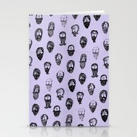 mustache Stationery Cards featuring mustache by Jen Gottlieb