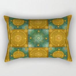 """""""Moroccan chess Celestial & Ocher Pattern"""" Rectangular Pillow"""
