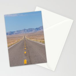 Open Road Photography, Loneliest Highway in America Photo, Nevada Road, Travel Photography Stationery Cards