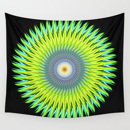 Green Machine Spiral Art Design Wall Tapestry