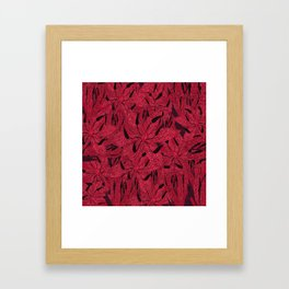 T.F TRAN RED PYTHON LILY GYMEA Framed Art Print