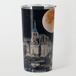 Blood Moon Over Mont-Saint-Michel Travel Mug