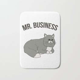 Mr. Business Cat Bath Mat