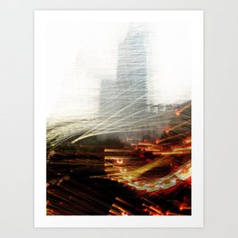 Lights and Tower Art Print