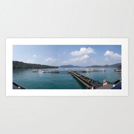 Sun Moon Lake Panoramic View Art Print