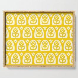 Mid Century Modern Sunflower Yellow Serving Tray