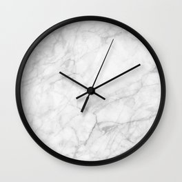 White Marble 009 Wall Clock