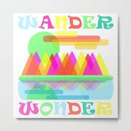 Wander Wonder Metal Print