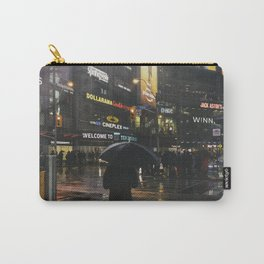 City Lights and Lonely Man in Toronto Street photography Carry-All Pouch