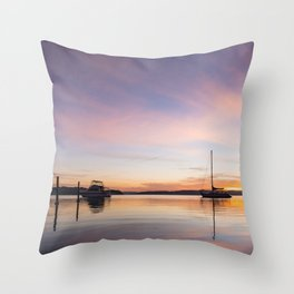 Acoss the Lake Throw Pillow