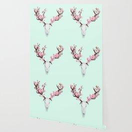 CHERRY BLOSSOM SKULL Wallpaper