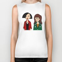 daria Biker Tanks featuring Daria & Jane by Marianna