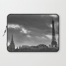 Eiffel tower under the clouds Laptop Sleeve