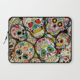 Sugar Skull Collage Laptop Sleeve