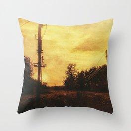 Rusty sunset Throw Pillow