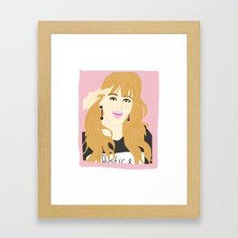 Knock Knock! Jihyo Pink Framed Art Print