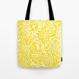 Gen Z Yellow Marigold Lino Cut Tote Bag