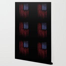 United states flag Black ink Wallpaper