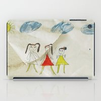 sisters iPad Cases featuring Sisters?  by Ethna Gillespie