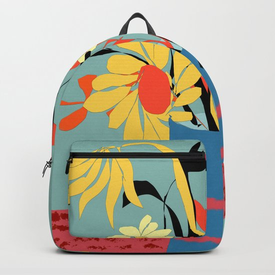 Vase of Flowers Backpack