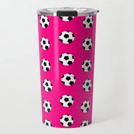 Neck Gaiter Soccer Balls Pink Soccer Team Neck Gator Travel Mug