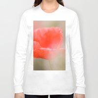 poetry Long Sleeve T-shirts featuring Poppies poetry by Kathleen Schulze