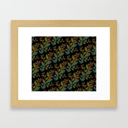 Maori leaves pattern Framed Art Print