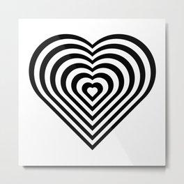 Zebra Heart Metal Print