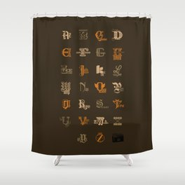 AZ to JayZ Shower Curtain