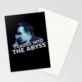 Nietzsche Gayzed into Abyss Stationery Cards